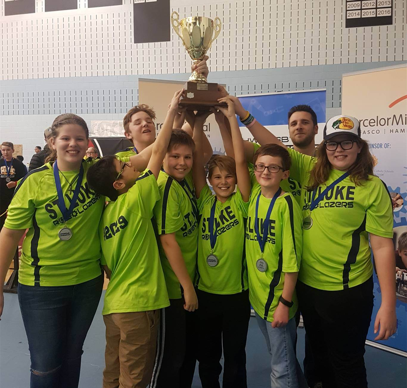 St. Luke RoboLazers were the big winners at Saturday's FIRST Lego League Hamilton Qualifier. The team placed first in the competition and is one of four HWCDSB teams to advance to the FLL Provincial Tournament in January.