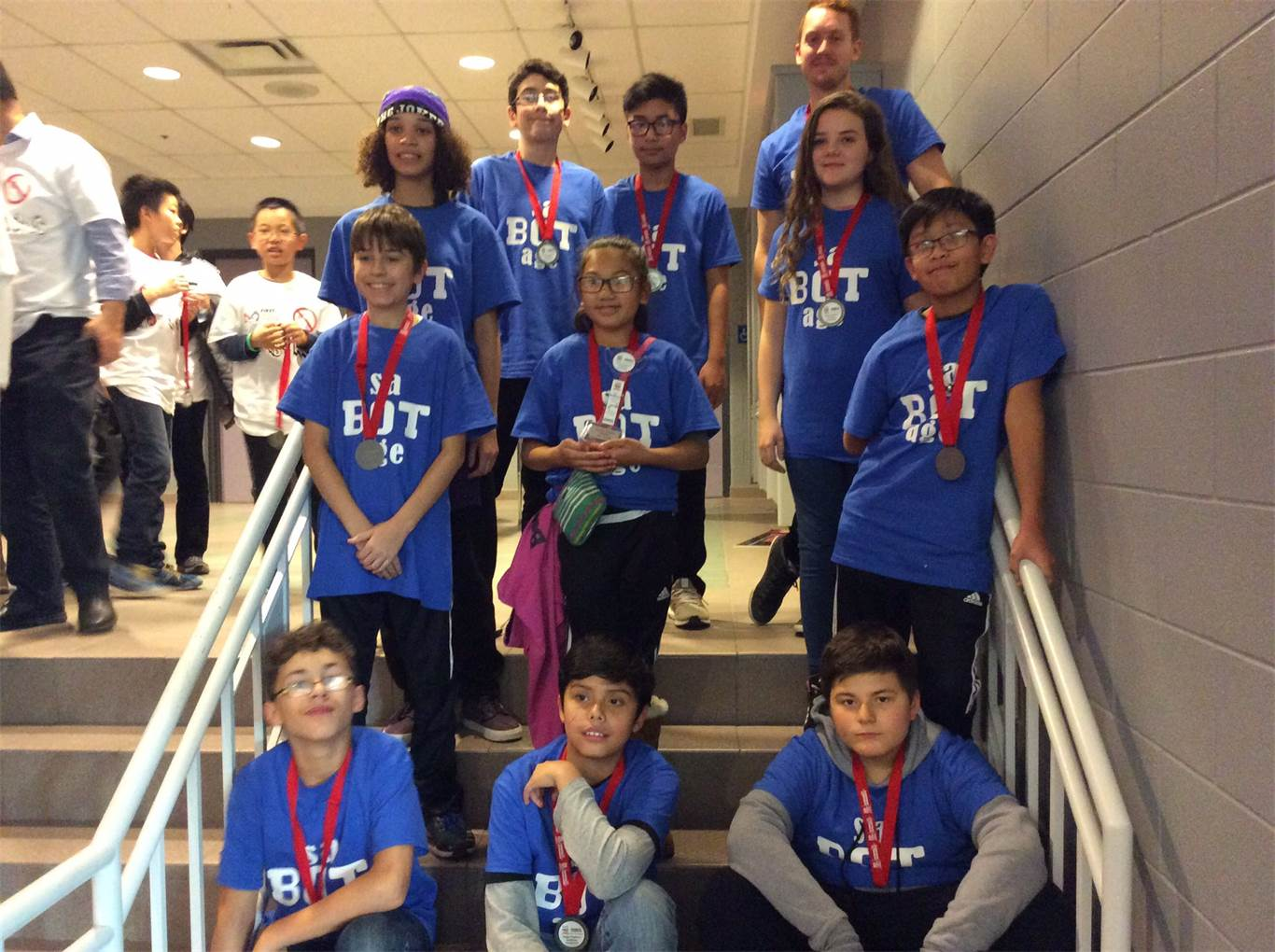 St. Ann (Hamilton) Sa-BOT-age Team 16086 won the Robot Design Award at the FIRST LEGO League Niagara Regional Qualifier on Dec. 2. This is the team's first foray into robotics.